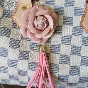 Flower purse charm or key charm